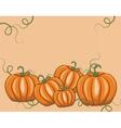Fresh Pumpkins on pale rose vector image