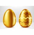 golden eggs easter metal gift realistic vector image vector image