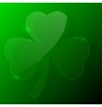 green shamrock vector image vector image