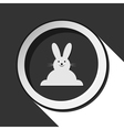 grey button with Easter bunny vector image vector image