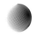 halftone globe sphere logo symbol icon design vector image vector image