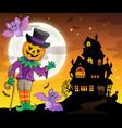 halloween theme figure image 3 vector image vector image