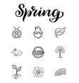 hand drawn creative design elements sketch vector image