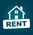 house for rent flat vector image vector image