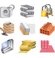 icons buildingmaket materials vector image vector image