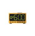 isolated time flat icon electric alarm vector image