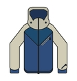 Jacket of winter cloth design vector image vector image