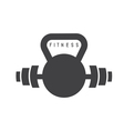 kettlebell and barbell fitness design template vector image vector image