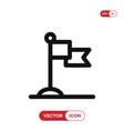 landmark icon vector image vector image