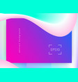 liquid fluid with dynamic elements and shapes vector image