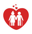 love couple silhouette icon vector image vector image