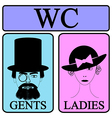 Male and female restroom symbol vector image vector image