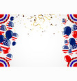 memorial day remember and honor with usa flag vector image vector image