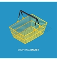 Metal Empty Shopping Basket vector image vector image