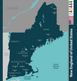 new england united states vector image vector image