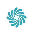 ornamental splash water star logo template vector image vector image