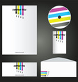 painters business stationery mock up 2901 vector image
