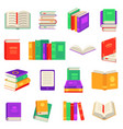 paper and electronic books set with various close vector image vector image