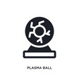 Plasma ball isolated icon simple element from