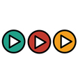 Play icons buttons vector image vector image