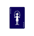 playing card with joker in dark blue design vector image vector image
