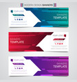 printabstract horizontal business banner template vector image vector image