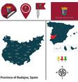 province of badajoz spain vector image vector image