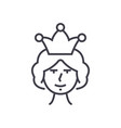 queen line icon sign on vector image vector image
