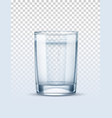 realistic empty glass for pure water vector image vector image