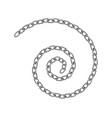 realistic metal chain texture spiral swirl chains vector image vector image