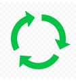 recycle eco icon green circle arrow reuse bio vector image vector image