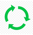recycling eco icon green circle arrow reuse bio vector image vector image