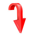 red down arrow 3d element