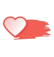 Red single isolated heart with watercolor style vector image vector image