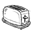 scribble series - toaster vector image vector image