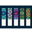 set 1 banners with hand drawn mandalas vector image