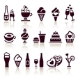 Set food icons vector image vector image