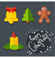 Set of Christmas icons in flat style vector image vector image