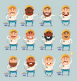 set of electrician flat icons vector image vector image