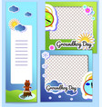 set templates frame and flyer for groundhog day vector image vector image