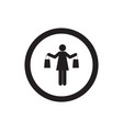 sign of girl shopping woman shopping icon vector image vector image