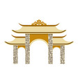 simple thailand traditional pagoda vector image