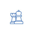 strategychess line icon concept strategychess vector image vector image