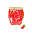 strawberry jam traditional dessert with wild vector image vector image