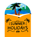 summer beach background summer holidays vector image vector image