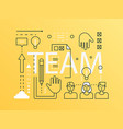 team word trendy composition banner outline vector image