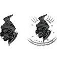 thai traditional painting tattoo cracked colour vector image vector image