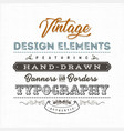 vintage label sign on fabric texture vector image vector image