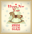 Vintage new year card vector image vector image
