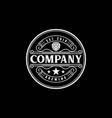 vintage retro hop beer brewing brewery label logo vector image vector image